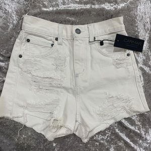 Carmar high waisted denim shorts